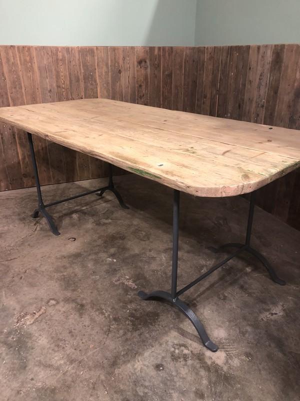 Reclaimed Vintage Trestle Table