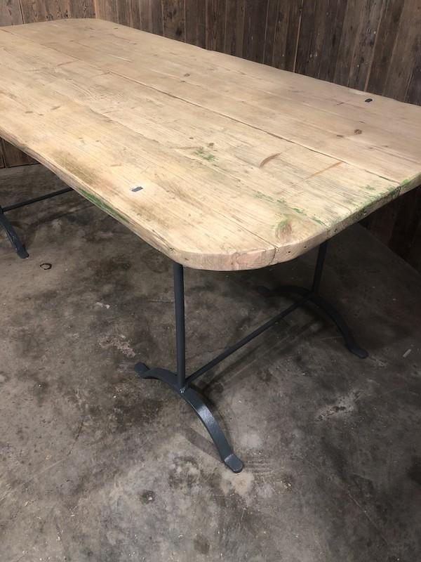 Salvaged Vintage Trestle Table