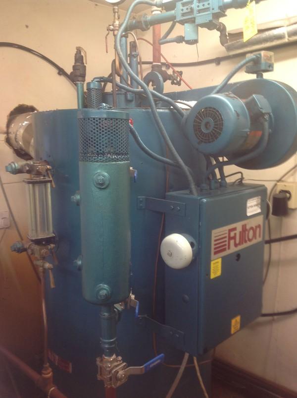 Fulton 10e gas fired steam boiler