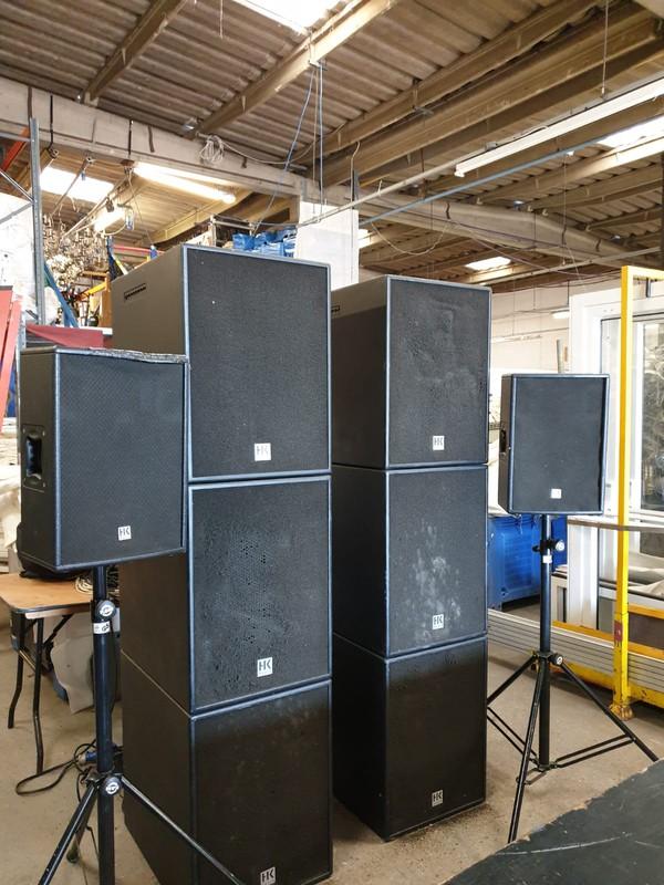 HK Speaker Cabinets + 2x Tripod Speakers
