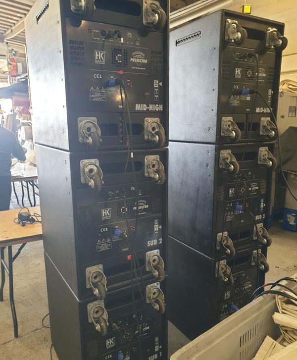 Used HK Audio speaker cabinets for sale