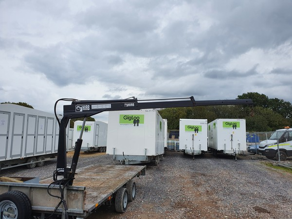 Trailer with Hiab for sale