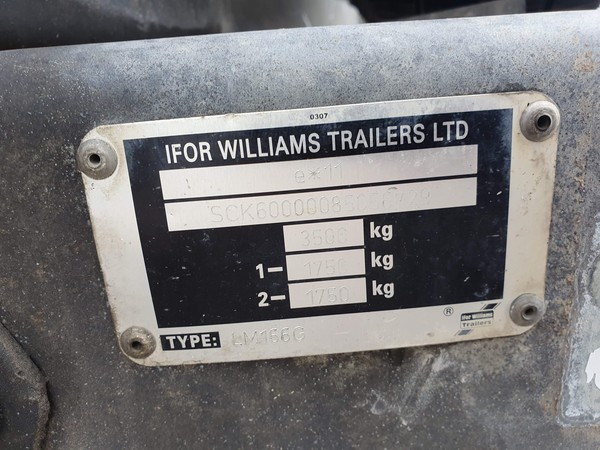Used trailer with hiab for sale
