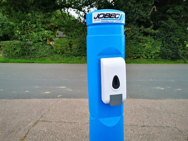 Jobec UK Hand sanitiser post
