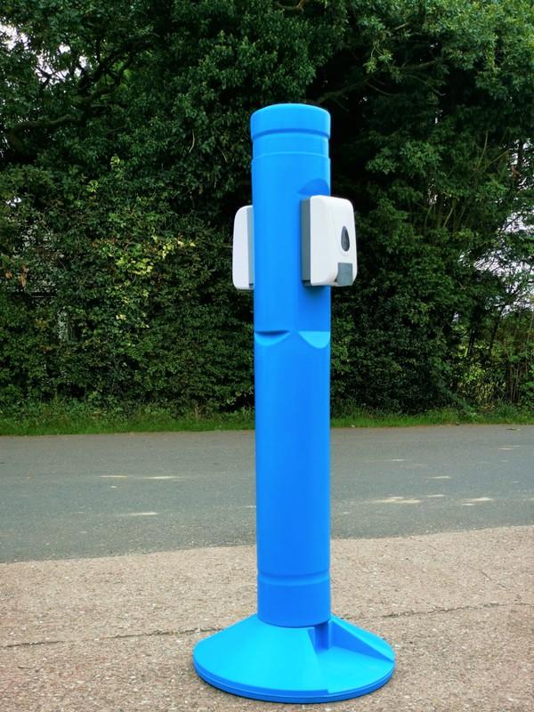 Two dispenser sanitiser post