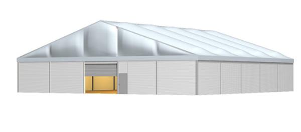 30m wide Industrial storage marquee