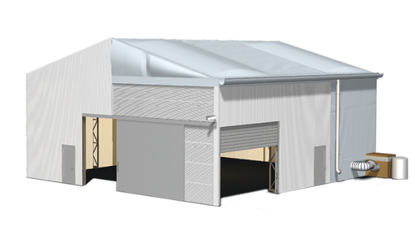 Choice of doors / insulated roofs and cladding