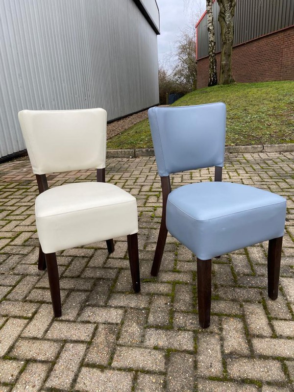 Ivory and Grey Restaurant Chairs Seconds