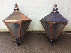 Pair of vintage pub lanterns