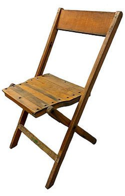antique wood folding chairs