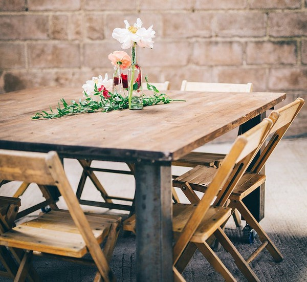 wood folding event chairs