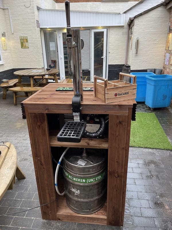 Complete Portable Bar Setup With Bar