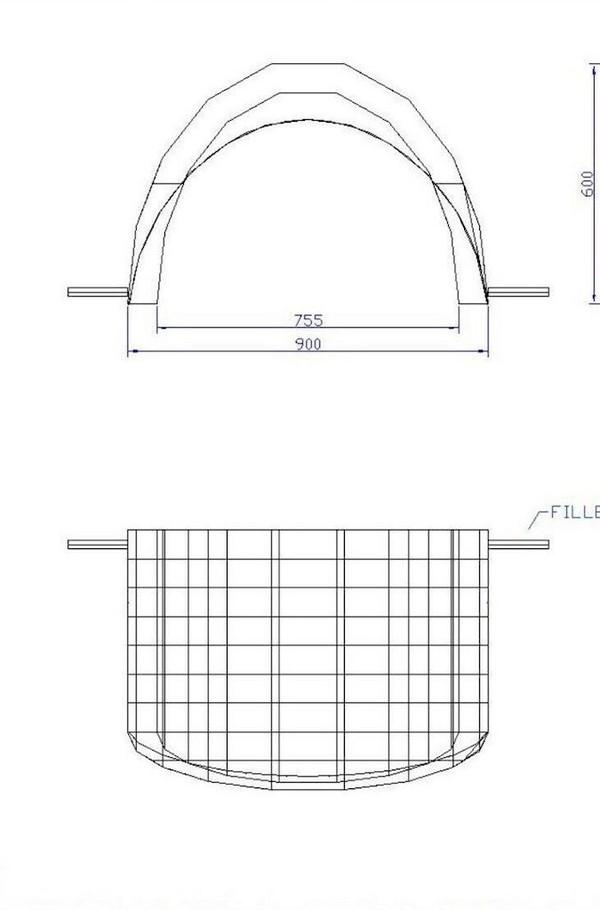Airquee 9M x 6.5M plan