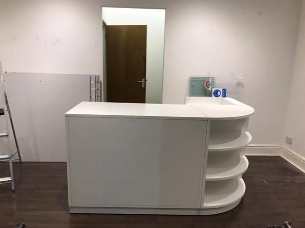 Hensley White Shop Counter Unit