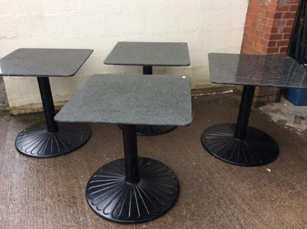 4x Granite Top Tables (CODE OF 296)