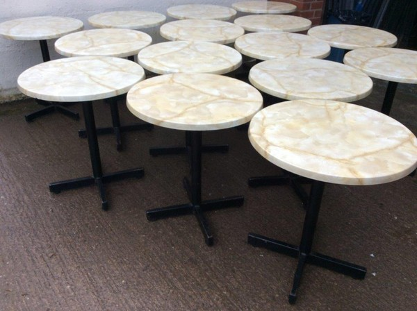 15x Marble Effect Round Tables (CODE OF 297)