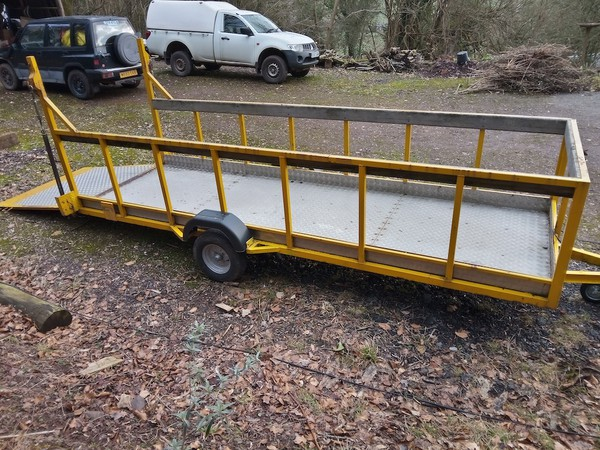 Second Hand Flatbed / Plant Trailer Single Axle