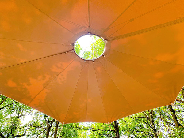 Fire canopy - glamp or camp site