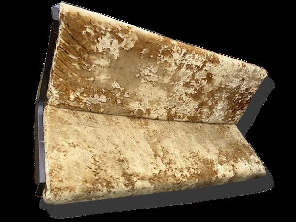 Bench seating plush gold velvet