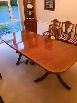 Solid Wooden Yew 7' Dining Table