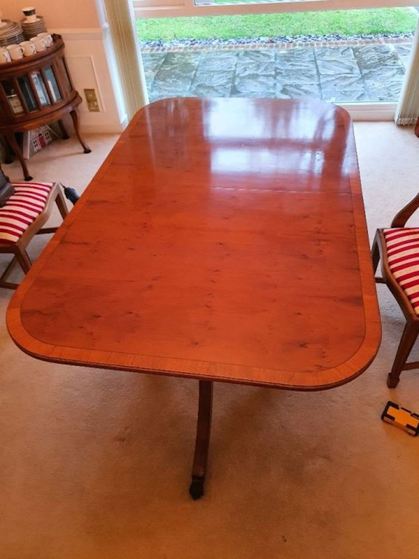 Wooden 7' Dining Table