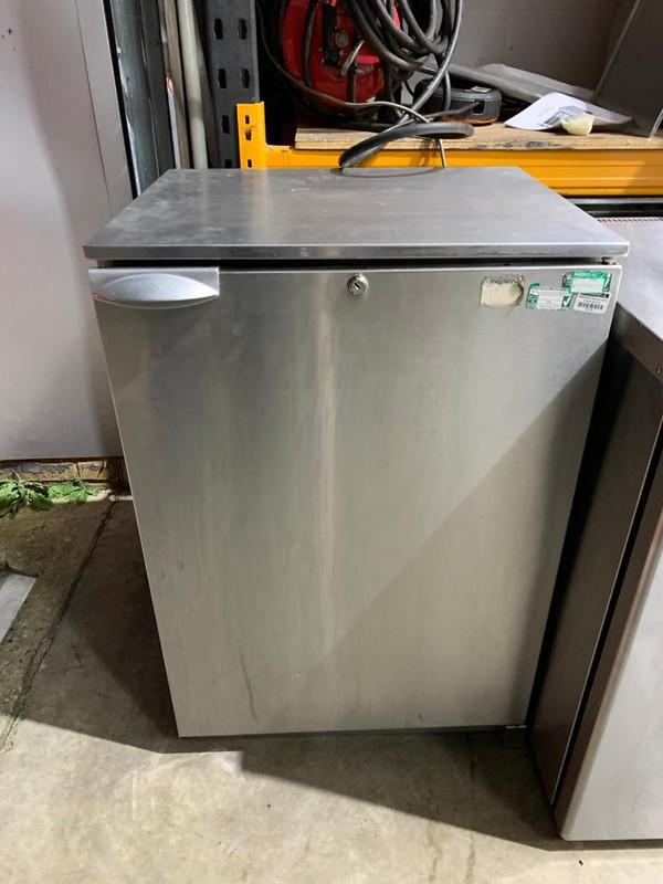 Stainless steel drinks fridge