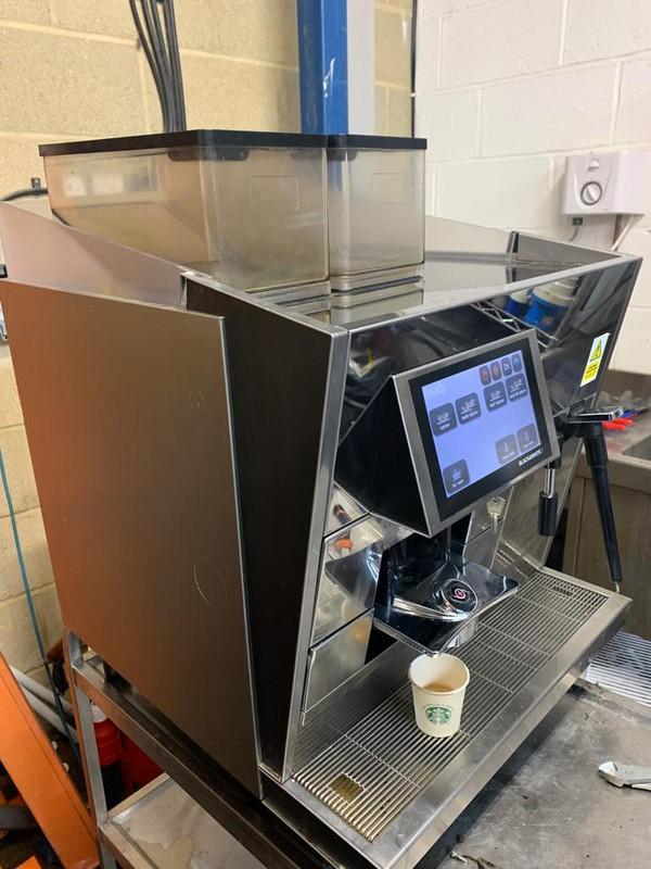 Stainless steel bean to cup coffee machine for sale