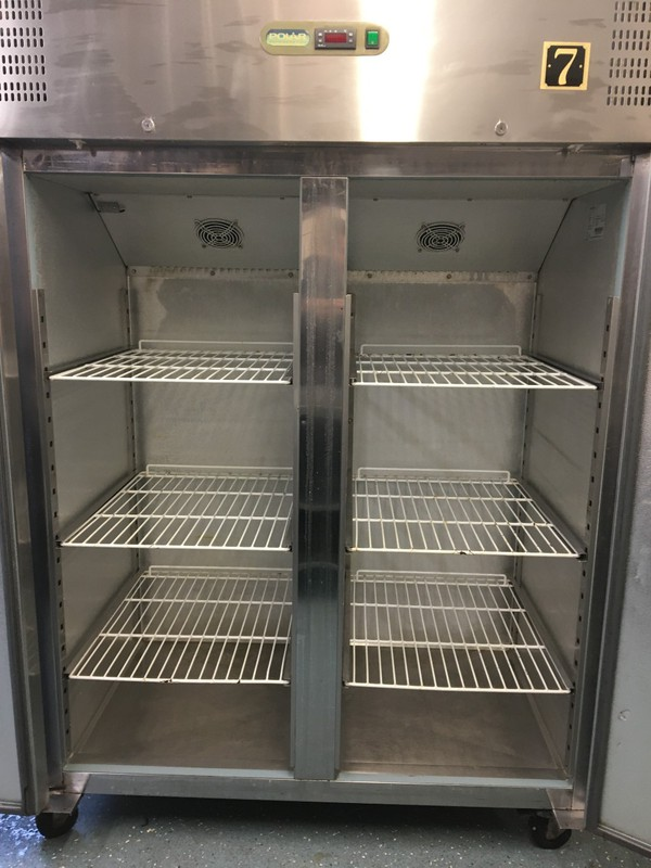 Commercial kitchen double upright fridge