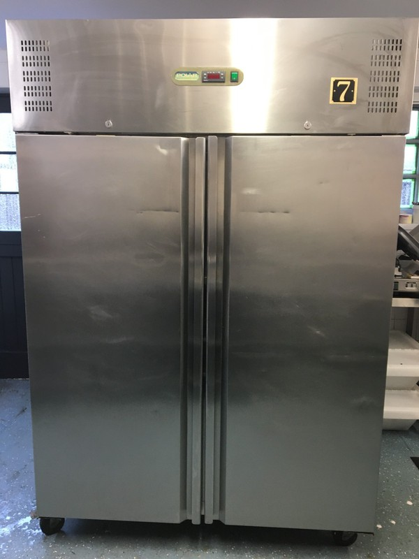 Double door stainless steel fridge