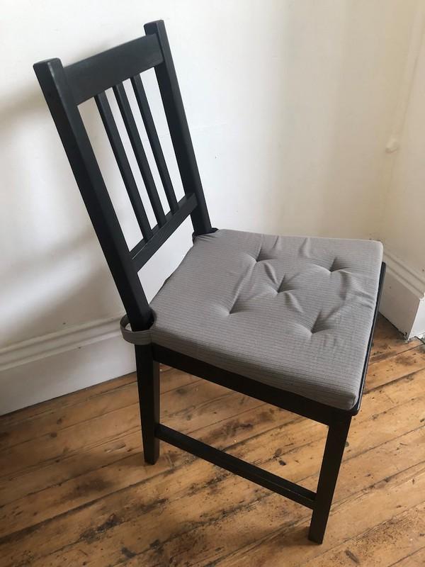 Ikea Stefan Dark Wood Chair with Pad