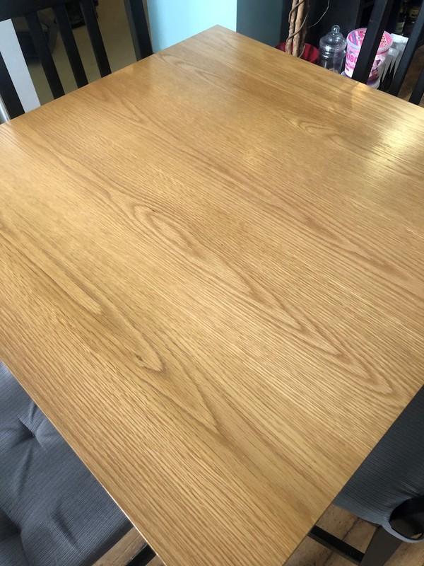Square Light Oak Table