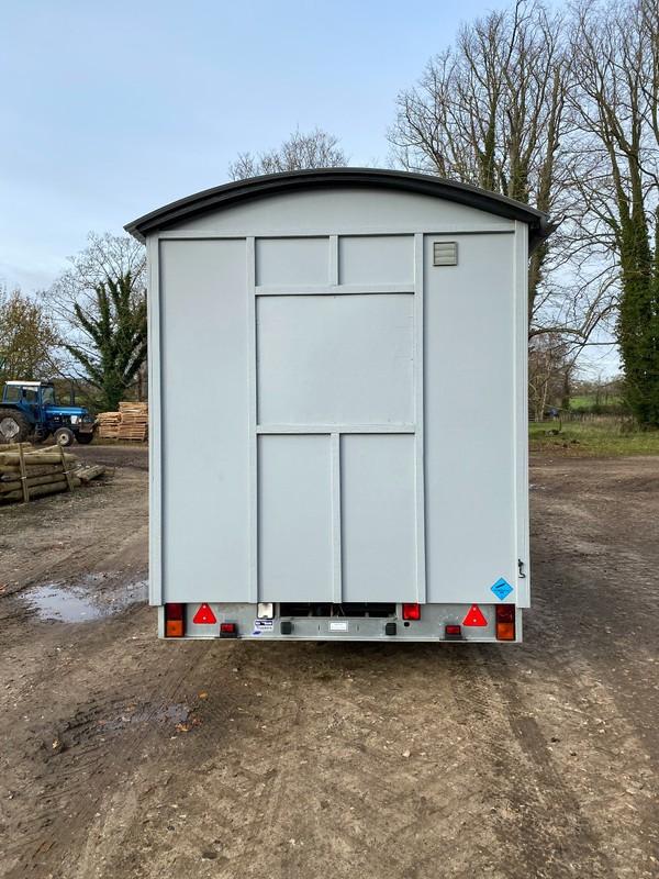 Shepherds hut glamping shower / toilets