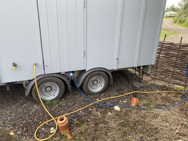 Water electric and mains connected