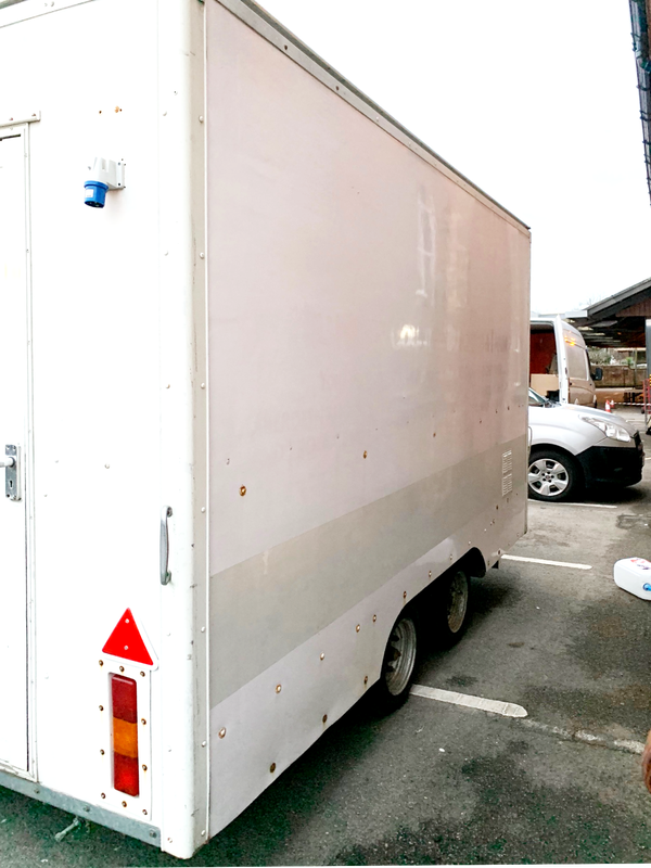 Twin wheel butchers / fishmongers trailer for sale