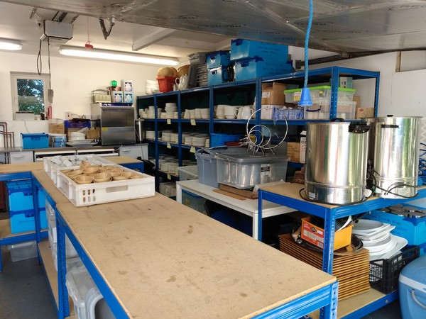 Catering Equipment Hire Business Stock