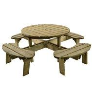 Round outdoor bench ideal for pub beer garden