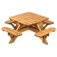 Wooden Octagonal 8 Seat Commercial Picnic Tables