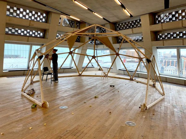 Buy Used Wooden Geodesic Dome