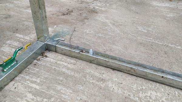 Workshop marquee steel framework