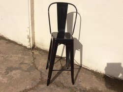 High Tolix Style Black Bar Chairs for sale