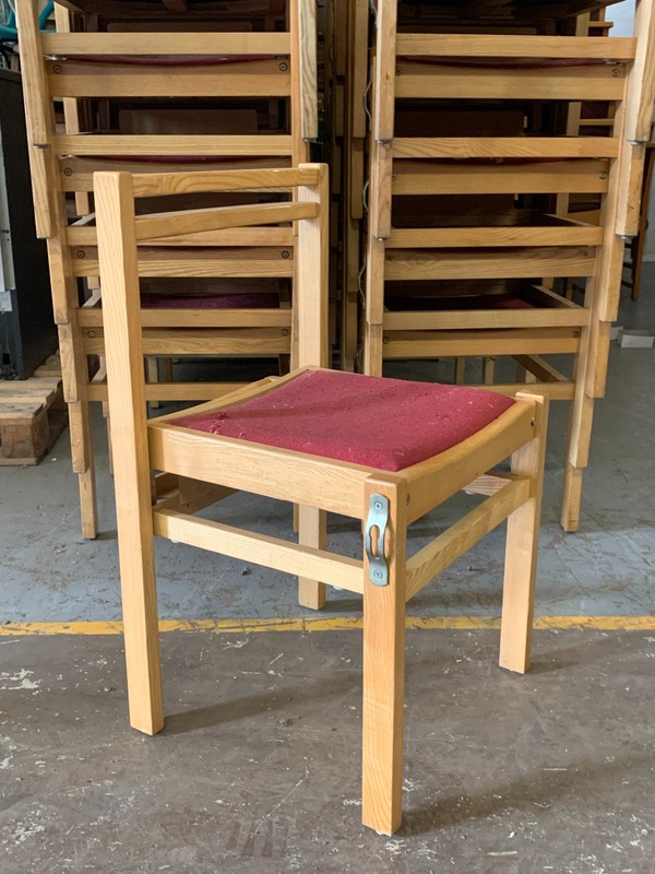 Wooden church chairs for sale