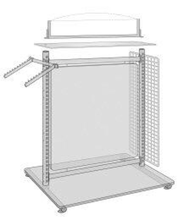 Clothes rack / shop display free standing