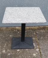 Granite tables with heavy bases