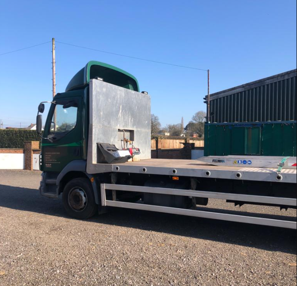 Used flat bed truck