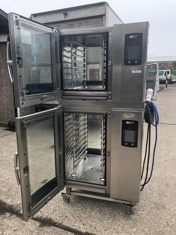 BKI / Houno CPE 6/10 Grid Stacked Passthrough Electric Combi Ovens