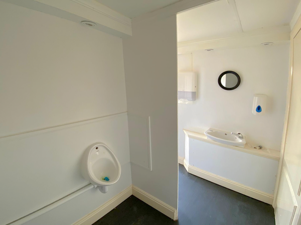 Ladies / Gents toilet trailer for sale