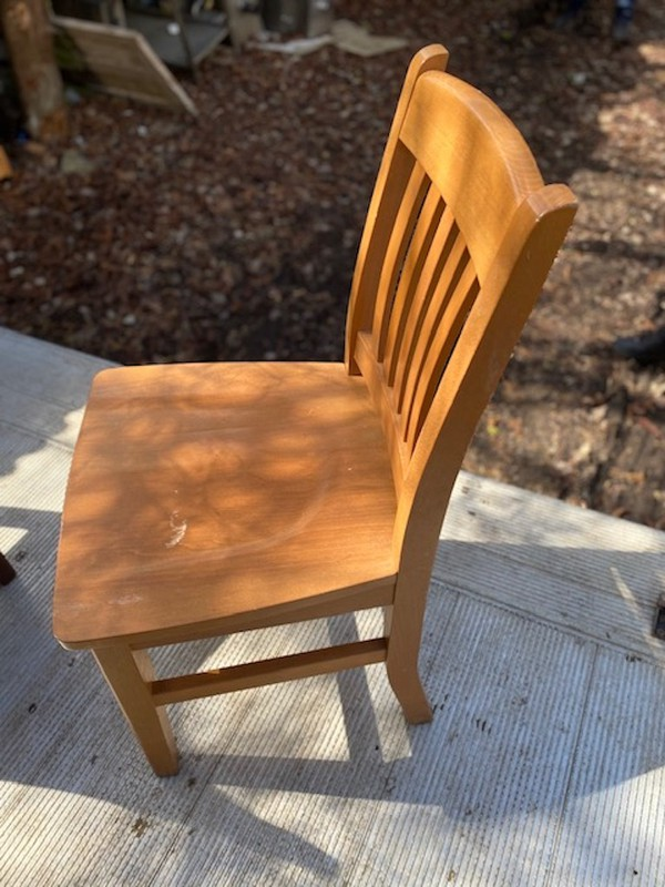 hardwood side chair
