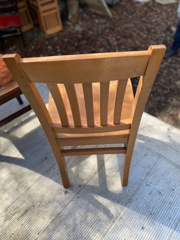 hard wood ladderback chair
