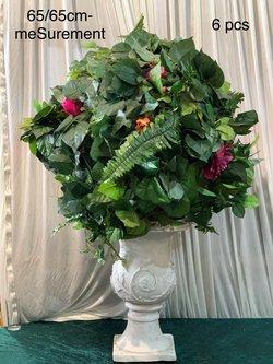 Decorative Artificial Green Flowerball 65cm