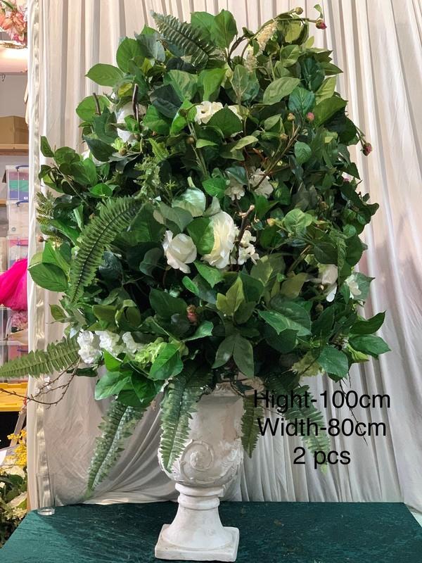 Green Flower Statement 100cmx80cm